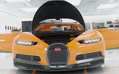Bugatti Chiron orange
